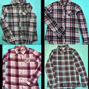 4 Faded Glory YL(10/12) Flannels